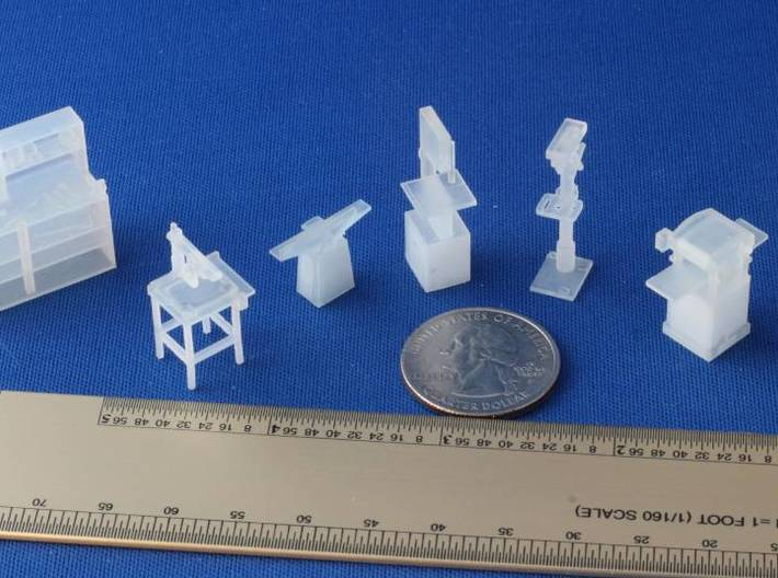 S Scale Power Tools and Workbench 3d printed