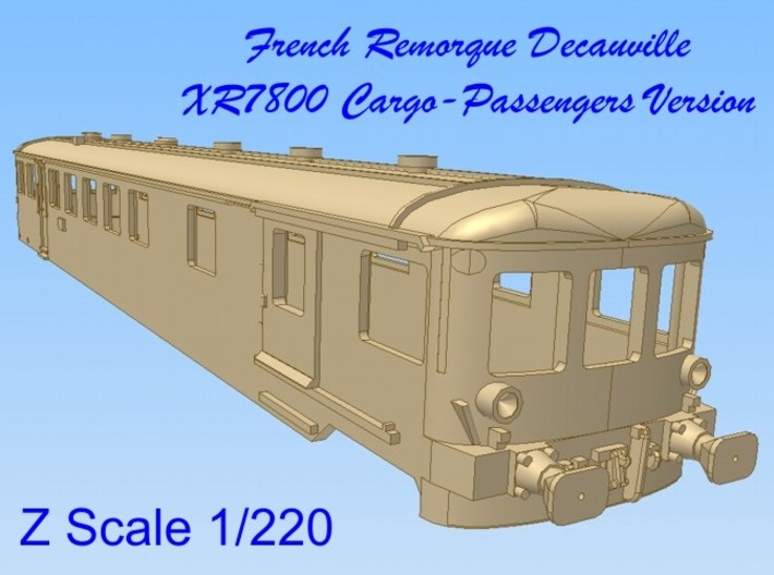 1-220 Remorque XR7800 Decauville 3d printed