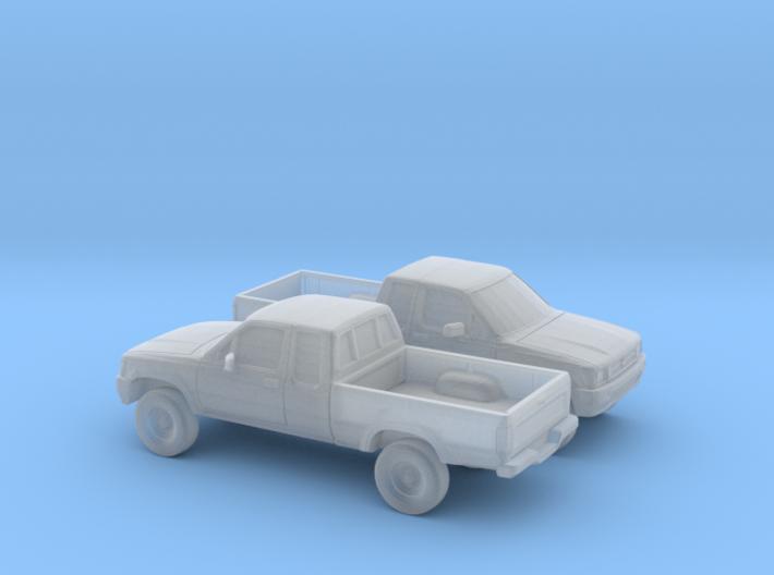1/148 2X 1988-97 Toyota Hilux 3d printed