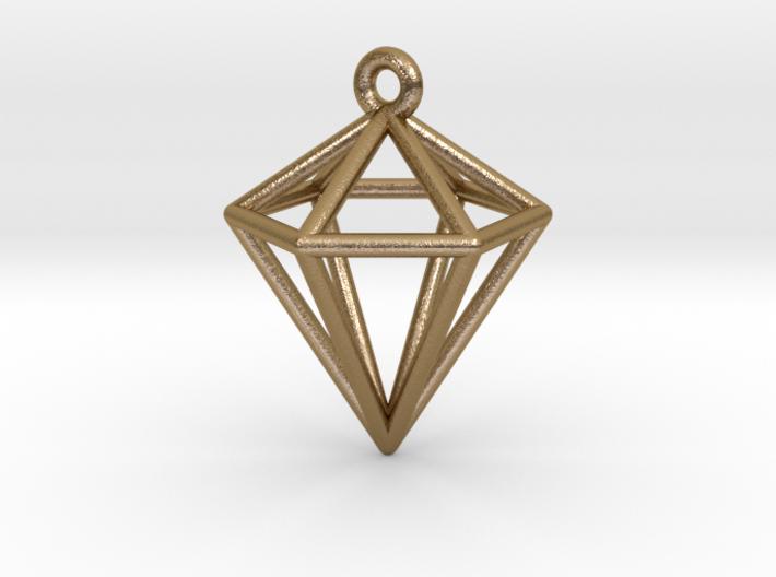 3D Diamond Pendant 3d printed