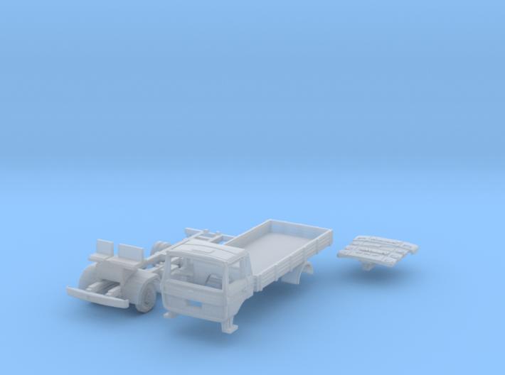Club-of-4 Flat bed (British N 1:148) 3d printed