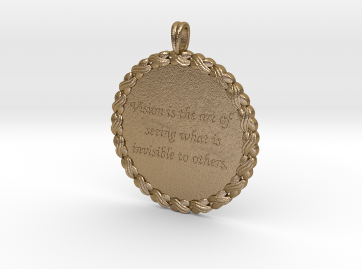 Vision Is The Art Of Seeing | Quote Pendant 3d printed