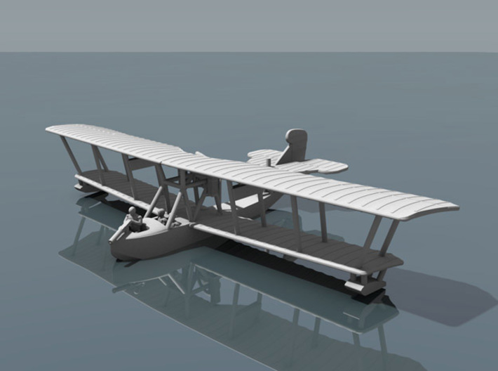 Grigorovich M-9 Flying Boat 3d printed Computer render of 1:144 Grigorivich M9