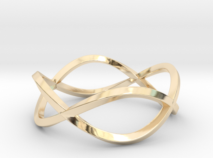Size 9 Infinity Twist Ring 3d printed