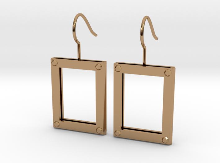 Picture Frame Earrings 3d printed