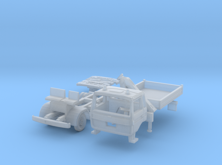 Vierer-Club-LKW Dreiseitenkipper Kran (TT 1:120) 3d printed
