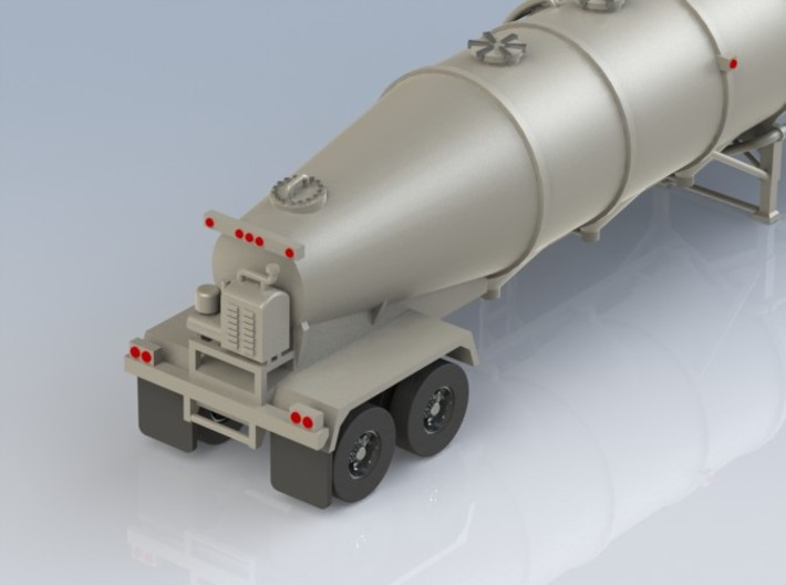 HO 1/87 Trailer 16a Fruehauf 1960's extra hatches 3d printed Add a caption...