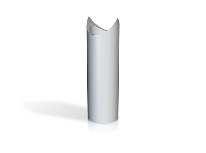 Live Steam Caboose Smoke stack mid section 3d printed Mid section of Smoke stack
