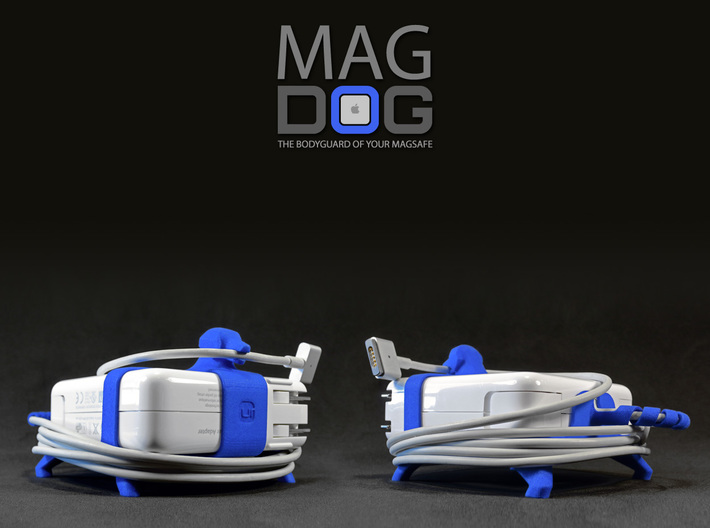 MAGDOG - The Bodyguard of your MagSafe! (85w) 3d printed MAGDOG fits MagSafe 85w (3 1/8 x 3 1/8 x 1 1/8). New models for MagSafe 60w and 45w, coming soon.