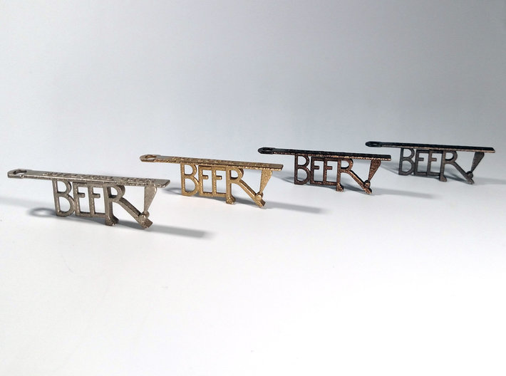 New York! Bottle Opener Keychain 3d printed
