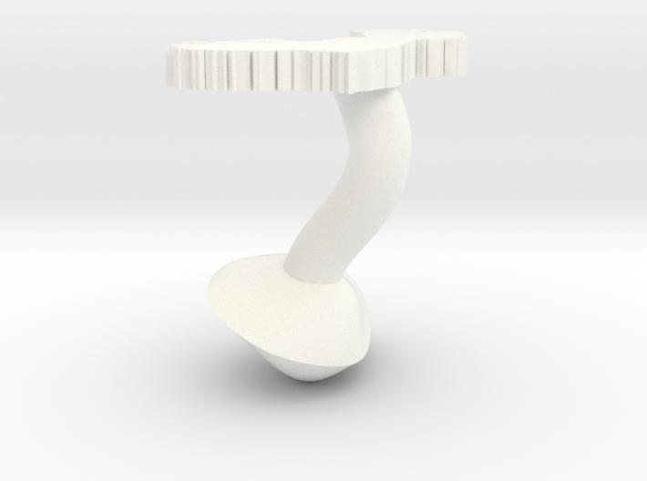 Connaught Cufflink 3d printed