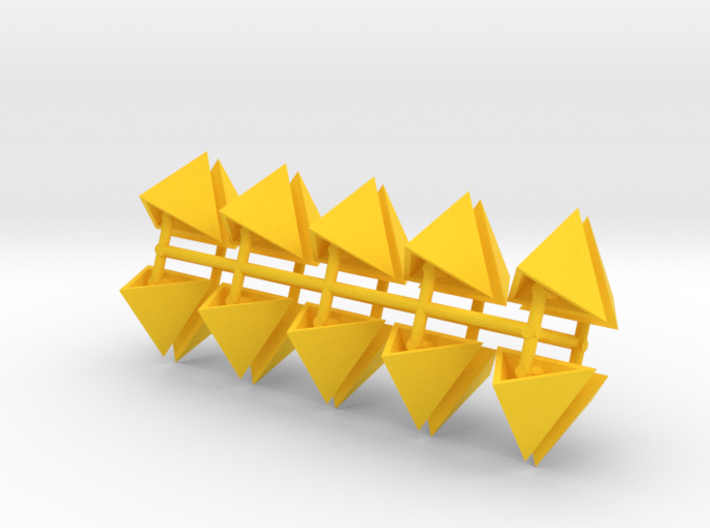 Tetrahedron Capstones (x20) 3d printed