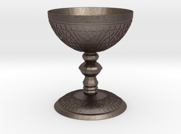 luxurious Cup with Islamic motifs in relief 3d printed