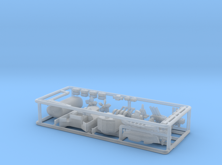 HMS Torquay Upgrade kit. Late version. 1/500 scale 3d printed