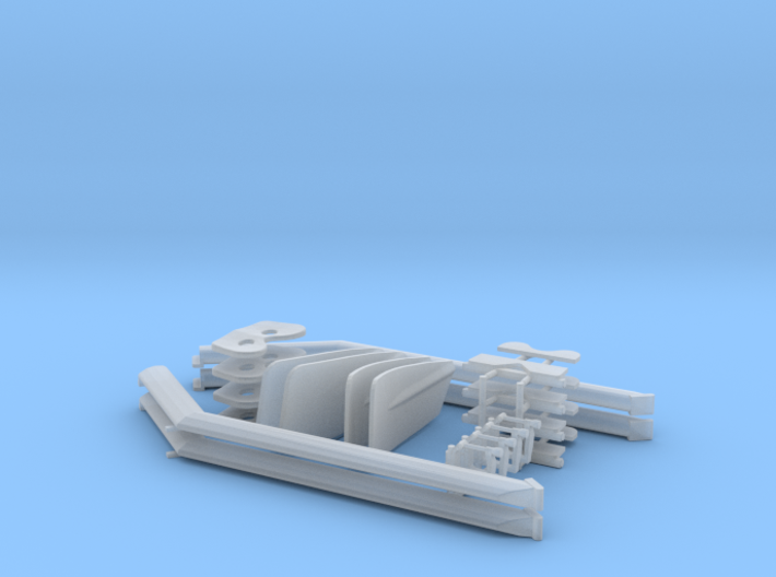 1/32 scale Rowing Set For Gino 3d printed
