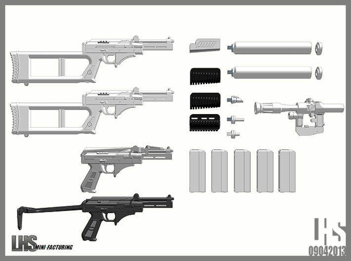 1/6 scale Russian VSK-94 9A91 set 2 3d printed