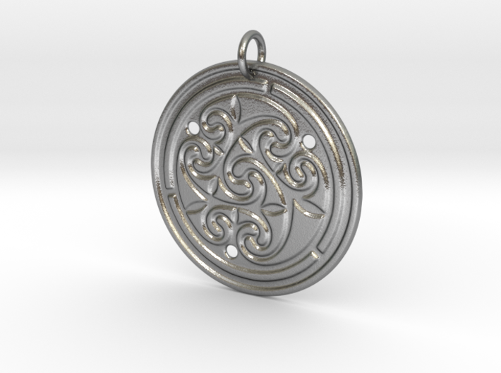 Norse Motif Round Medallion (for precious metals) 3d printed