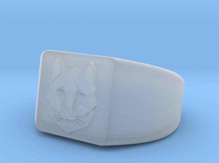 Geometric Wolf Ring 3d printed