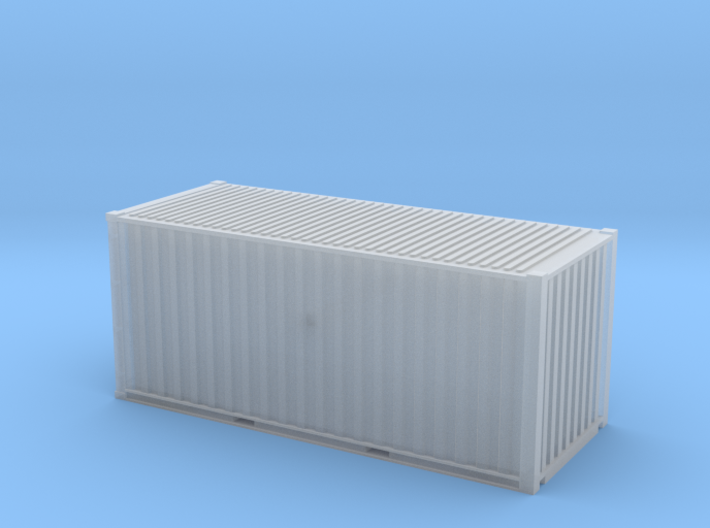 20' Cube ISO Container (N Gauge 1:148) 3d printed