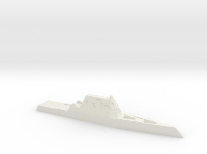 USS Zumwalt, 1/3000 3d printed