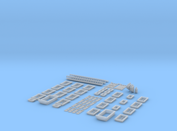 NVIM03 - City buildings 3d printed