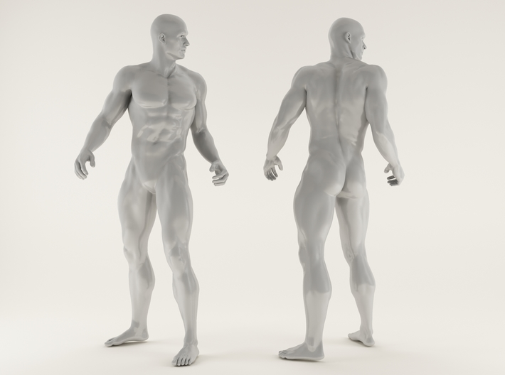 2016027-Strong man scale 1/10 3d printed