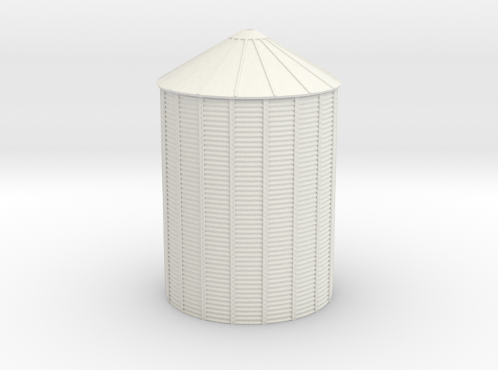 'N Scale' - Grain Bin - 36' dia.x48' Tall 3d printed