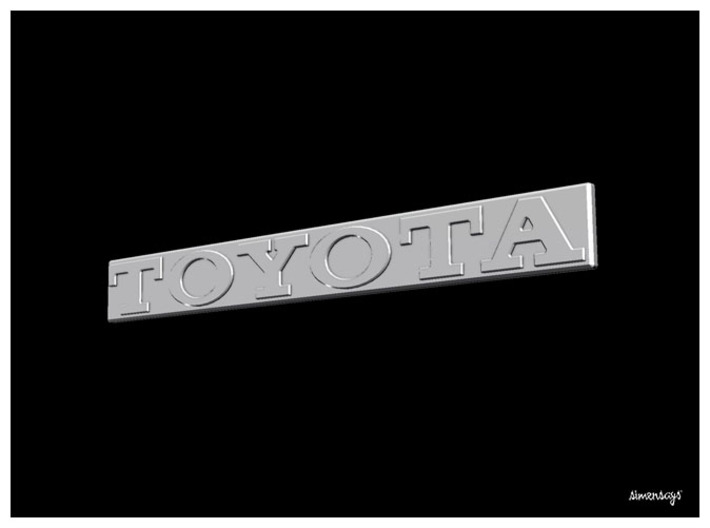 Simensays Hilux 4x4 Toyota Tailgate Badge 3d printed