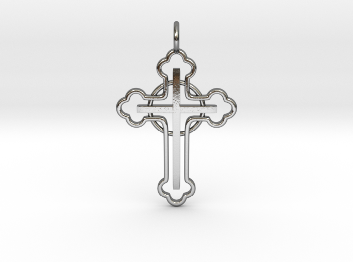 The Ringed Cross 3d printed