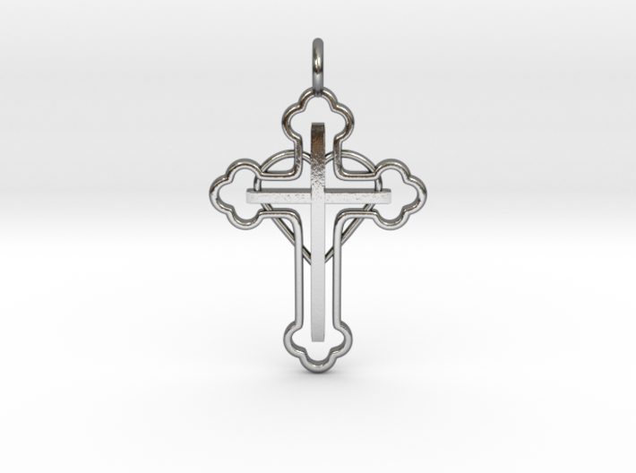 The Hearted Cross 3d printed