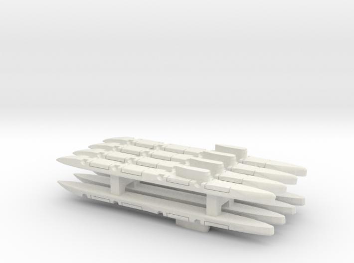 Echo-Class SSGN x 8, 1/1800 3d printed