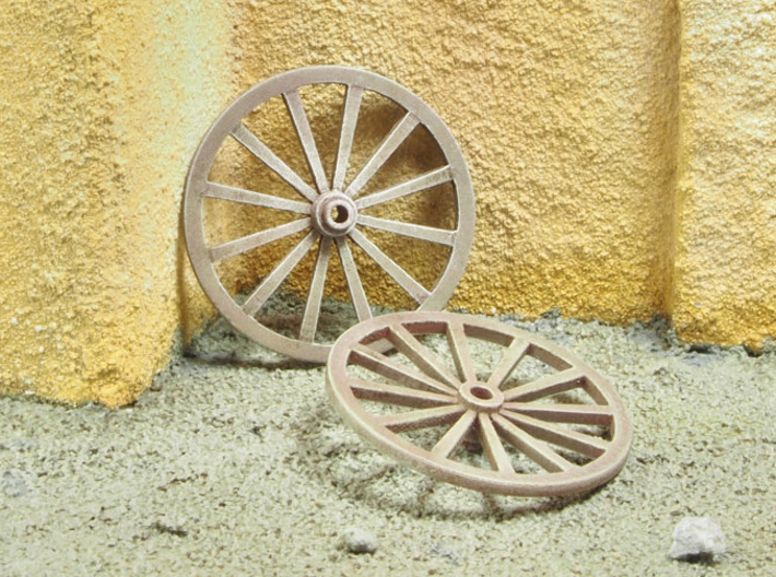 Wagon Wheels in 1/35 scale 3d printed
