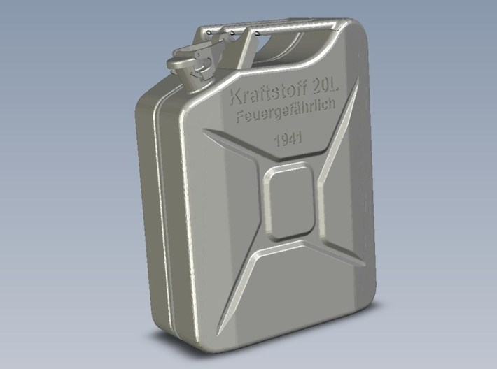 1/9 scale WWII Wehrmacht 20 lt fuel canister x 1 3d printed