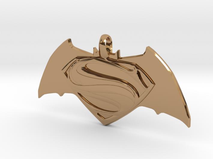 Batman vs Superman Emblem - Reversible Pendant Key 3d printed