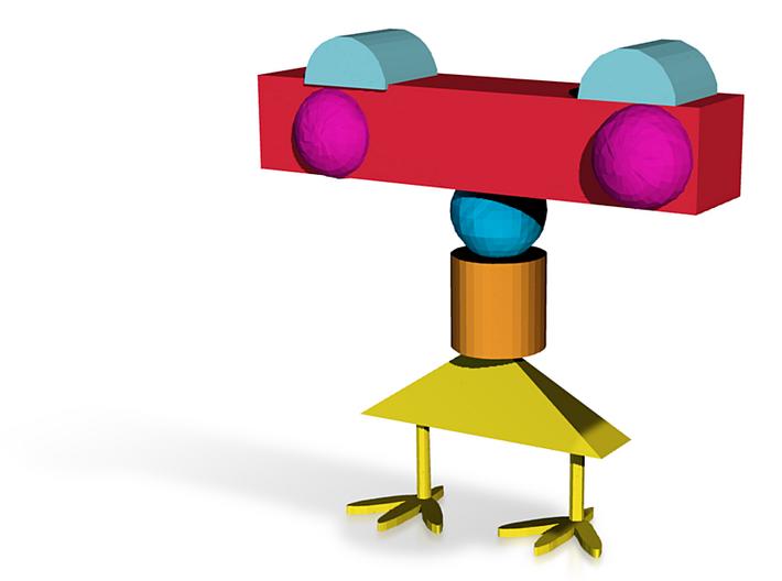 Bodacious Wluff-trug.x3d (1) 3d printed Chicken Sculpture