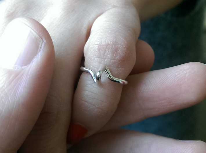 """""""Summit"""" Ring d=13,5mm (all sizes on demand) 3d printed"""