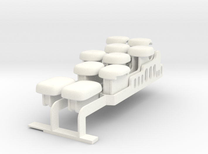 Top-four notes set for Drop-on Jankó Piano Adaptor 3d printed