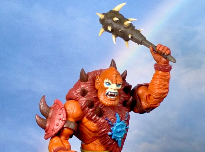 Beast Man's club 3d printed Painted with heat-shrink tube on handle.