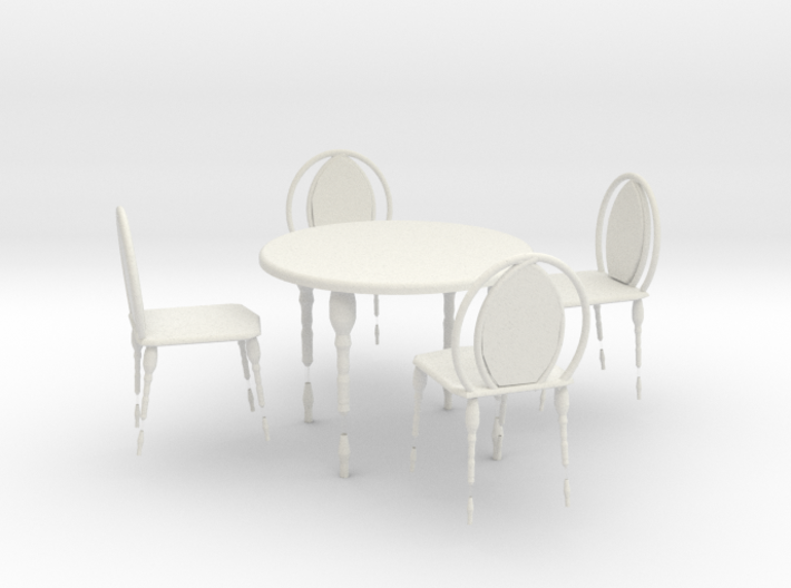 CAFE TABLE AND CHAIR 4 3d printed