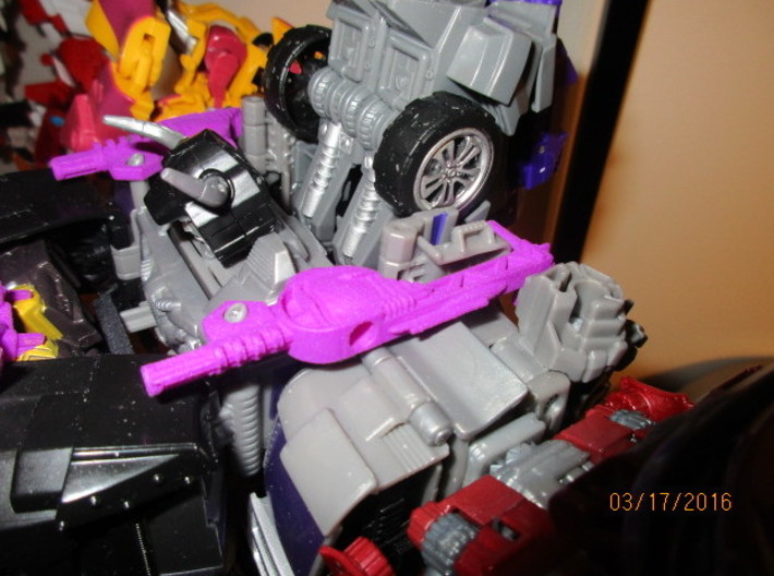Menasor Brace Cannons 3d printed For best fit, fold these flaps back before attaching the brace