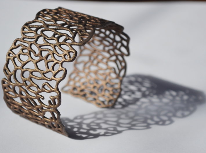Cuff 'Patterns' 3d printed