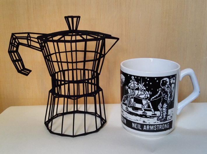 Moka Coffee Pot Wireframe 3d printed