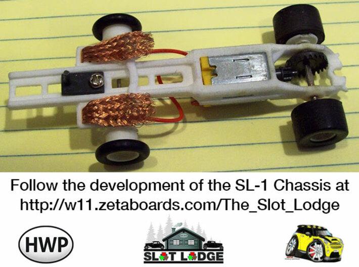 Original SL1 - Narrow: HO Slot Car Chassis 3d printed