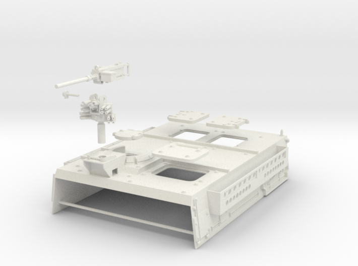 Stryker APC Back(1:18 Scale) 3d printed