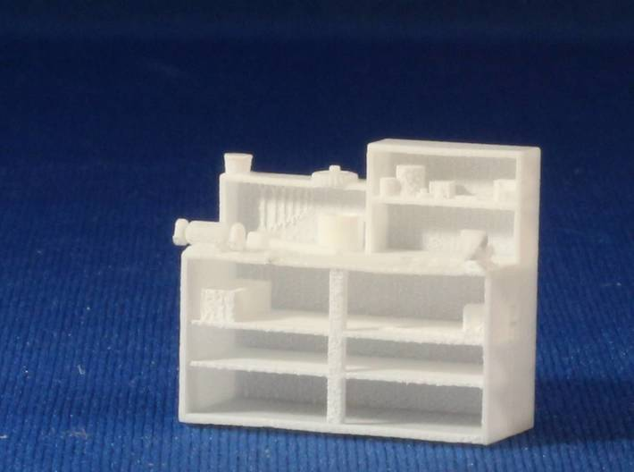 Woodworking machinery and Workbench HO Scale 3d printed