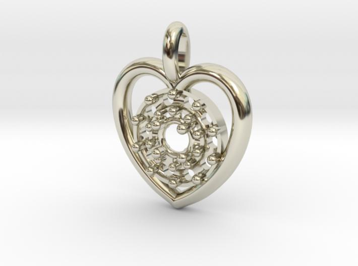 Halo Heart Pendant 3d printed