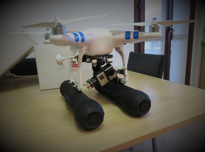 Argo Drone - accessory / float for DJI Phantom 3d printed Accessory for DJI Phantom
