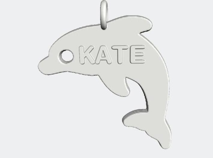 Dolphin V2 Pendant 3d printed Customize your pendant with your initials.