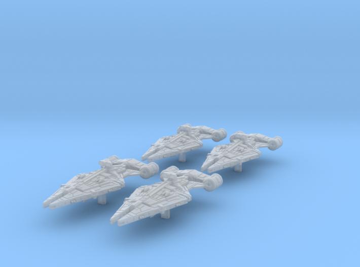 4x Arquitens light cruiser (1/7000) 3d printed