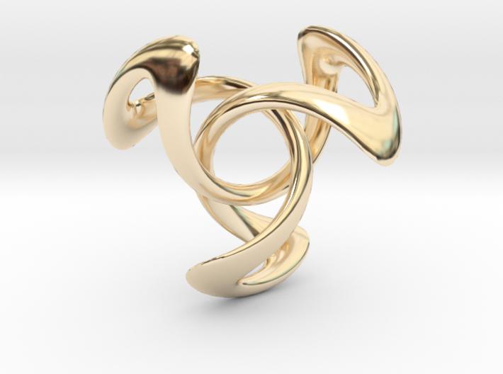 Trinity Pendant (4 cm) 3d printed